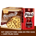 Kit 1 Panettone Chocolate Casa do Pão + 1 Café Pilão