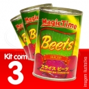Kit Beterraba Fatiada Magic Time 454g x3