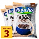 Kit Feijão Preto do Rancho 1kg x3