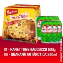 KIT Panettone Bauducco 500g + 6 Guaranás Antarctica 350ml